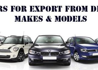 Different models of car for the Singapore car exporter to market